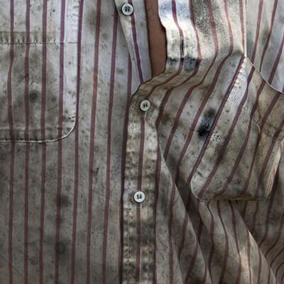 Cambouis sur les textiles